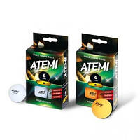 Мячи для настольного тенниса Atemi 1* 6 шт. White (NTTB1*6)