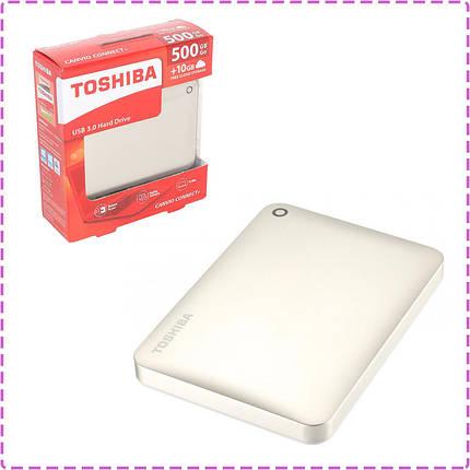 """Внешний жесткий диск 500 Gb Toshiba Canvio Connect II, Gold, 2.5"""", USB 3.0 (HDTC805EC3AA), 500 Гб, фото 2"""