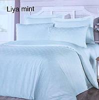 Постельное белье сатин жаккард Altinbasak (евро-размер) № Liya Mint