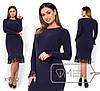 Платье женское из ангоры (3 цвета) - Синий PY/-0165