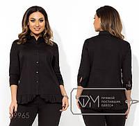 Женская стильная блузка X9965 черная (р.48-54)