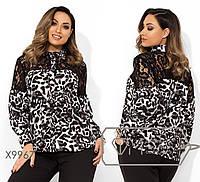 Женская стильная блузка X9967 серый (р.48-54)
