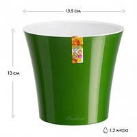 Вазон  Арте-Santino 1.2 л Зеленый, фото 1
