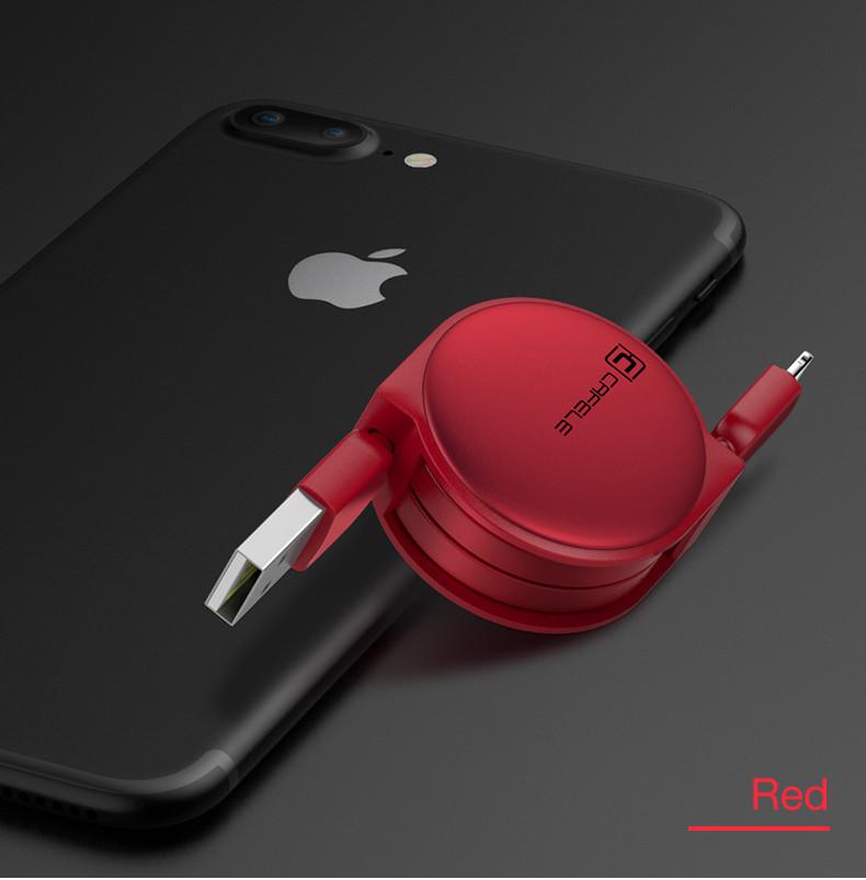 Кабель быстрой зарядки Cafele for Iphone Red