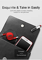 Кабель быстрой зарядки Cafele for Iphone Red, фото 7