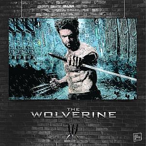 Постер Логан под дождём. Росомаха, Логан, The Wolverine. Размер 60x38см (A2). Глянцевая бумага