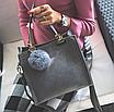Сумка женская классическая с ручками Elli Серый, фото 3