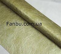 Флизелин металлизированый(1лист 60*57 см),цвет хаки с золотом