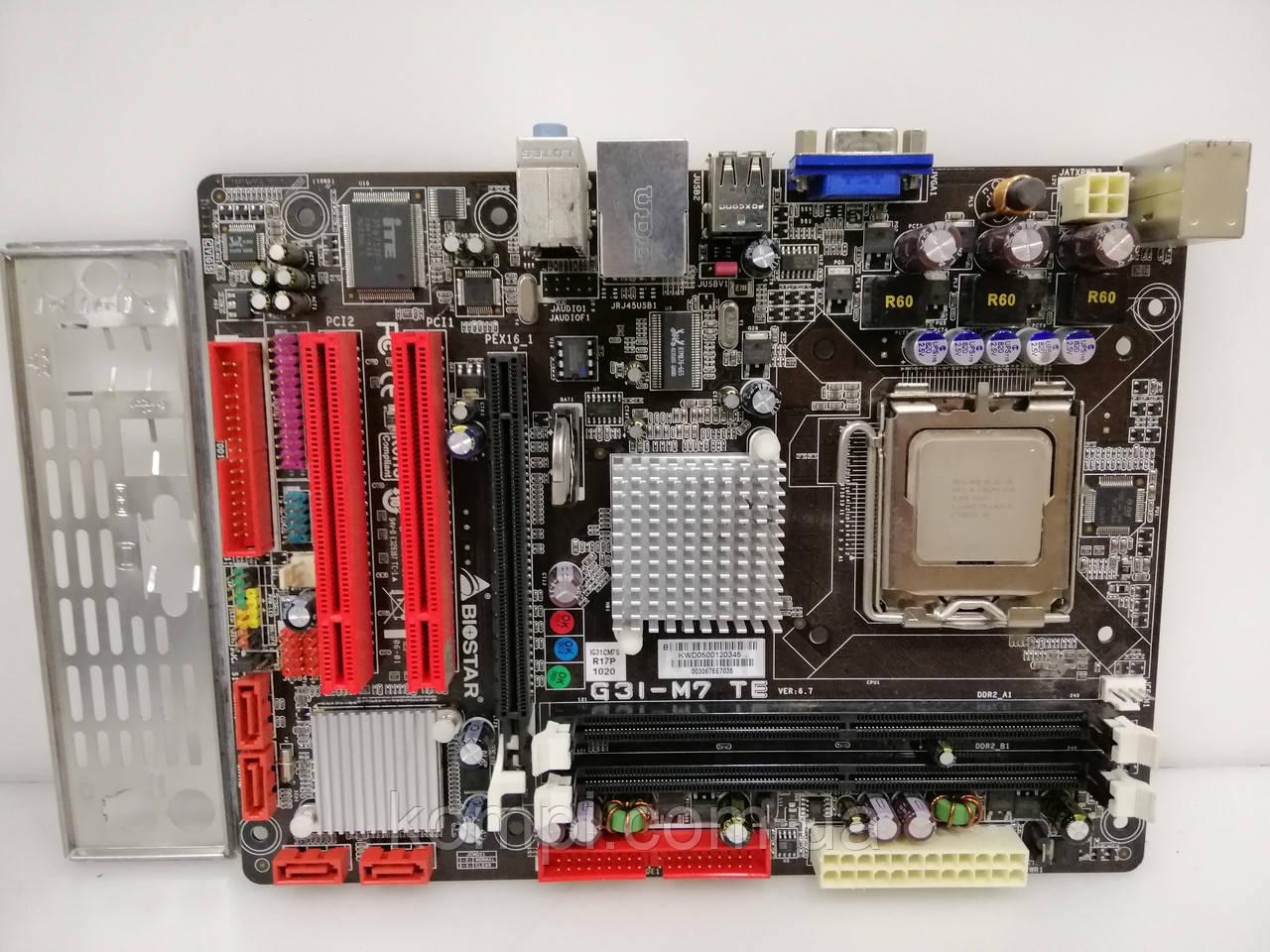 Материнская плата BIOSTAR G31 M7 +E7300  S775/QUAD DDR2