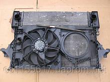 Радиатор основной и интеркулера б/у с диффузором в сборе на Renault Master 2.5 DCi  2006 года