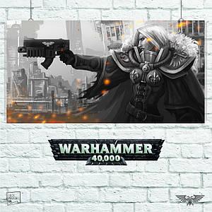 Постер Warhammer 40000, Amberley Vail, Вархаммер, ваха. Размер 60x31см (A2). Глянцевая бумага