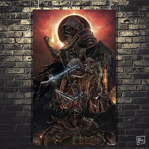 Постер Dark Souls, Тёмные души. Размер 60x37см (A2). Глянцевая бумага