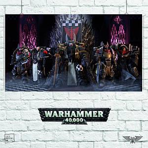 Постер W40K: Primarchs, Примархи, Вархаммер, Warhammer 40000, ваха. Размер 60x34см (A2). Глянцевая бумага
