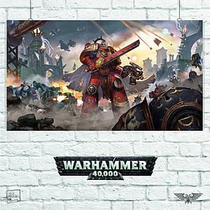 Постер W40K: Eternal Crusade, Вархаммер, Warhammer 40000, ваха. Размер 60x34см (A2). Глянцевая бумага