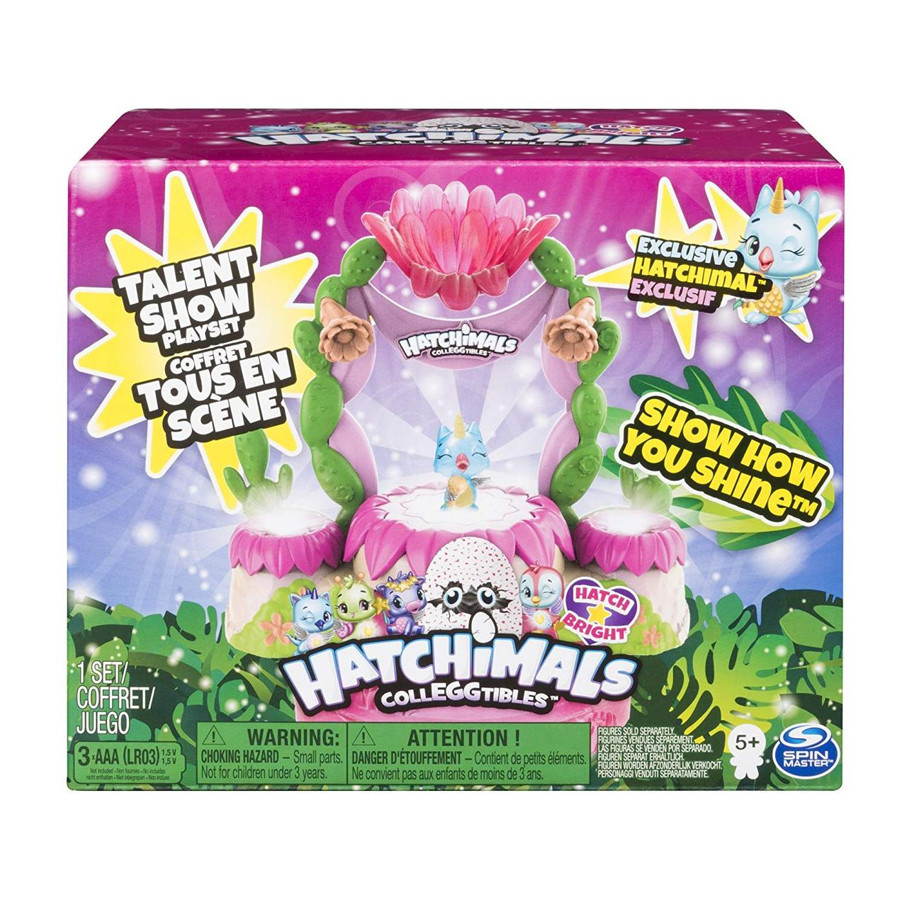 Игровой набор Hatchimals CollEGGtibles Talent Show, свет, звук Spin Master из США