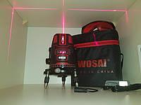 Лазерный уровень WOSAI, 20 кратная яркость✦ 5 линий, 6 точек✦Li-ion✦ПРОТИВОУДАРНЫЙ КОРПУС