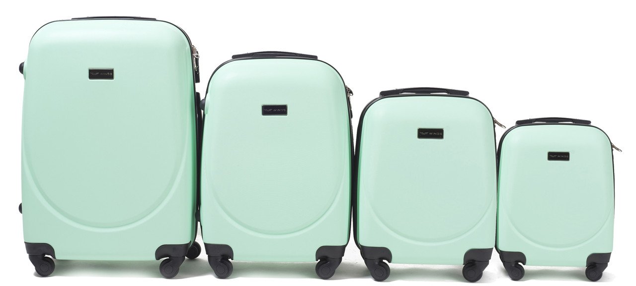 Комплект пластиковых чемоданов Wings 310-4 на 4 колесах
