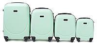 Комплект пластиковых чемоданов Wings 310-4 на 4 колесах, фото 1