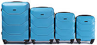 Комплект пластиковых чемоданов Wings 147-4 на 4 колесах, фото 1