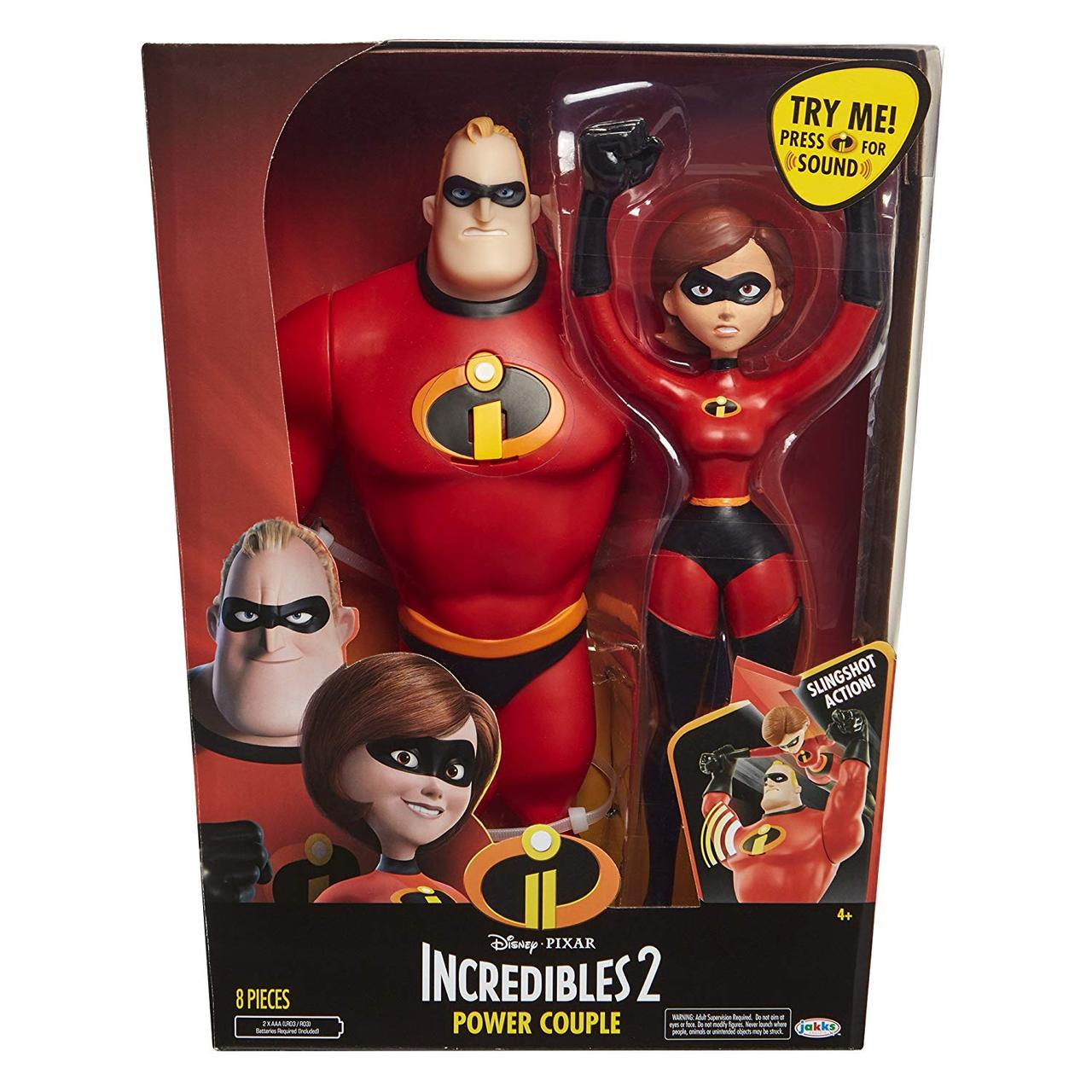 Набор Супер Семейка Мощная пара 30см, Incredibles, Power Couple Mr. Incredible and Elastigirl, Оригинал из США