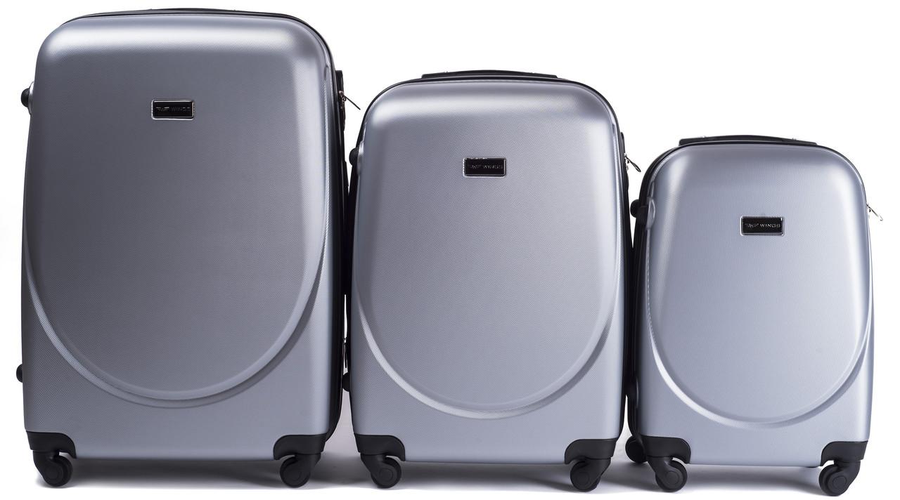 Комплект пластиковых чемоданов Wings 310-3 на 4 колесах