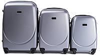 Комплект пластиковых чемоданов Wings 310-3 на 4 колесах, фото 1