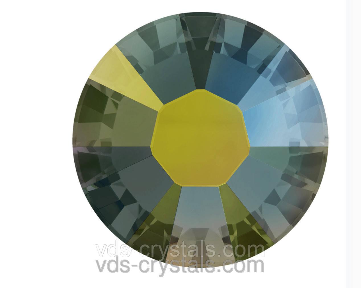 Кристаллы Сваровски клеевые горячей фиксации 2038 Crystal Iridescent Green F (001 IRIG)(упаковка 1440 шт.)