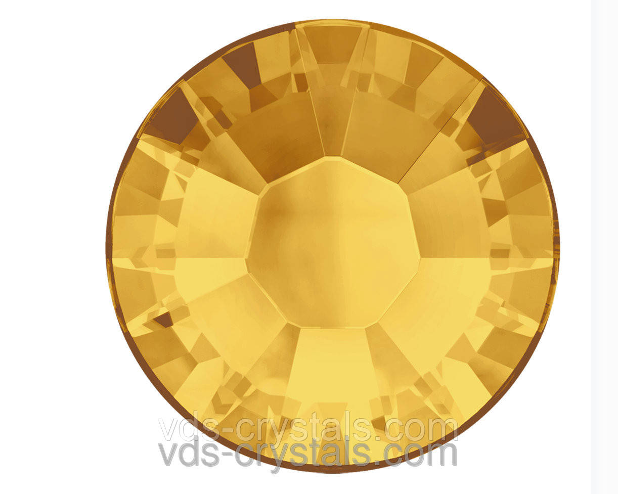 Стразы Swarovski оптом и в розницу клеевые горячей фиксации 2038 Sunflower (292)(упаковка 1440 шт.)
