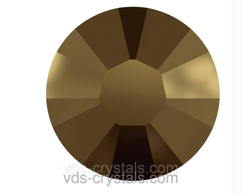 Стразы Swarovski клеевые холодной фиксации 2058 Crystal Dorado F (001 DOR)
