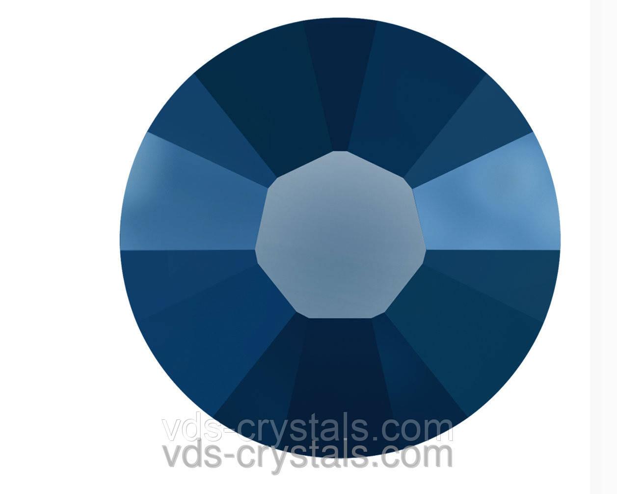 Клейові стрази Сваровскі холодної фіксації 2058 Crystal Metallic Blue F (001 METBL)