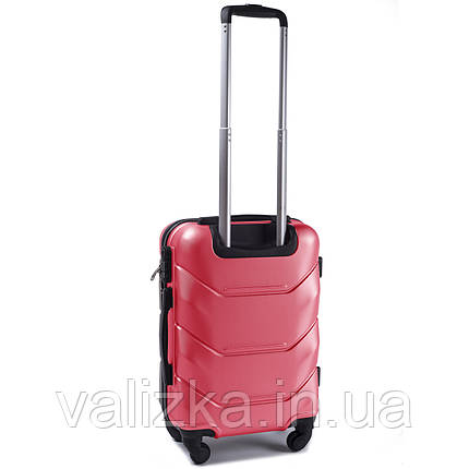 Пластиковый чемодан Wings 147 S для ручной клади розовый, фото 2