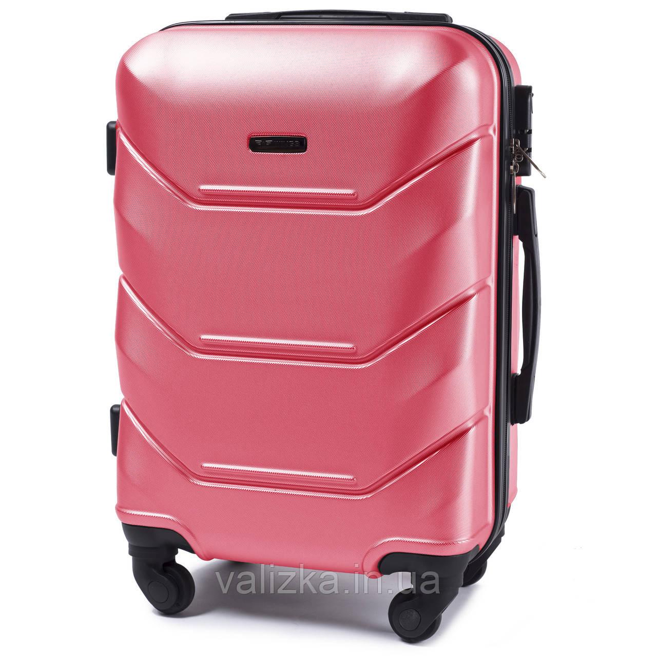 Пластиковый чемодан Wings 147 S для ручной клади розовый
