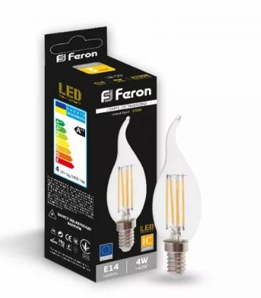 Feron светодиодная лампа LB-59 CF37 E14 2700K