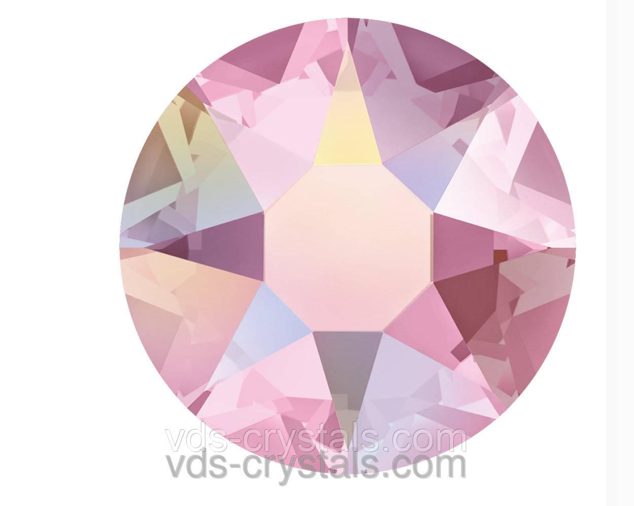 Камни Сваровски клеевые горячей фиксации 2078 Light Rose AB F (223 AB)