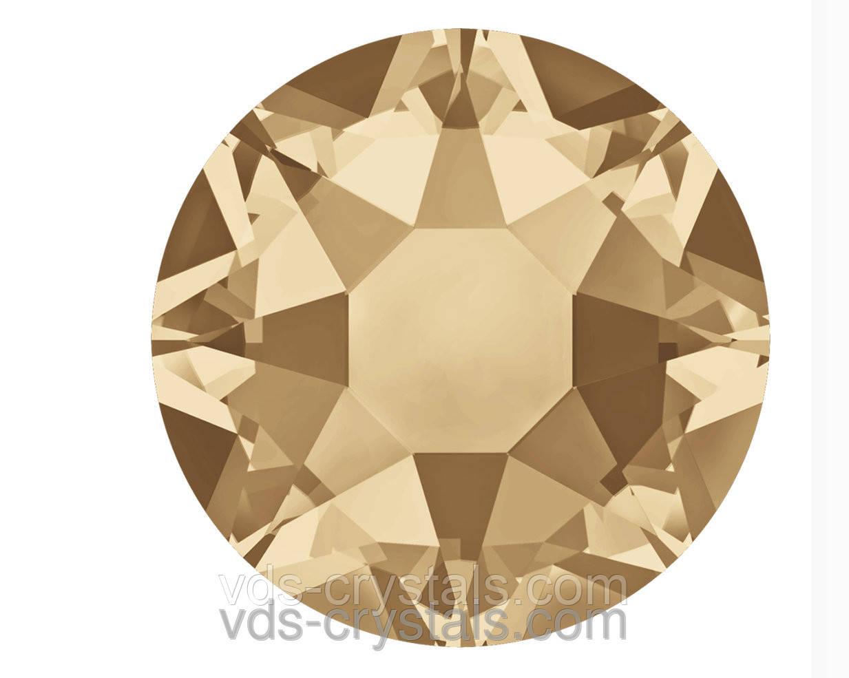 Камни Сваровски клеевые горячей фиксации 2078 Crystal Golden Shadow F (001 GSHA)