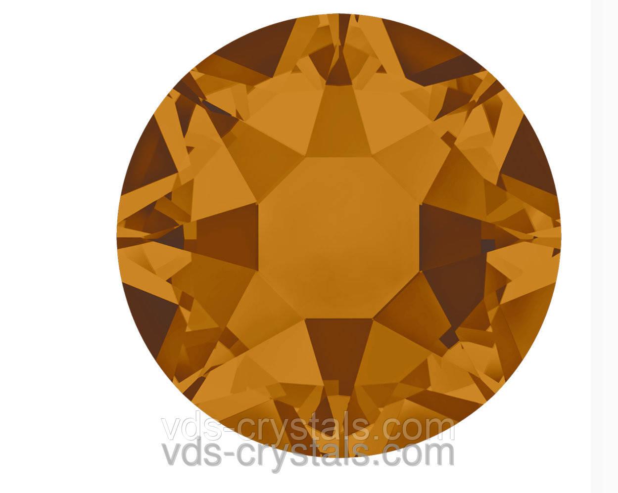 Кристаллы Swarovski клеевые горячей фиксации 2078 Crystal Copper F (001 COP)