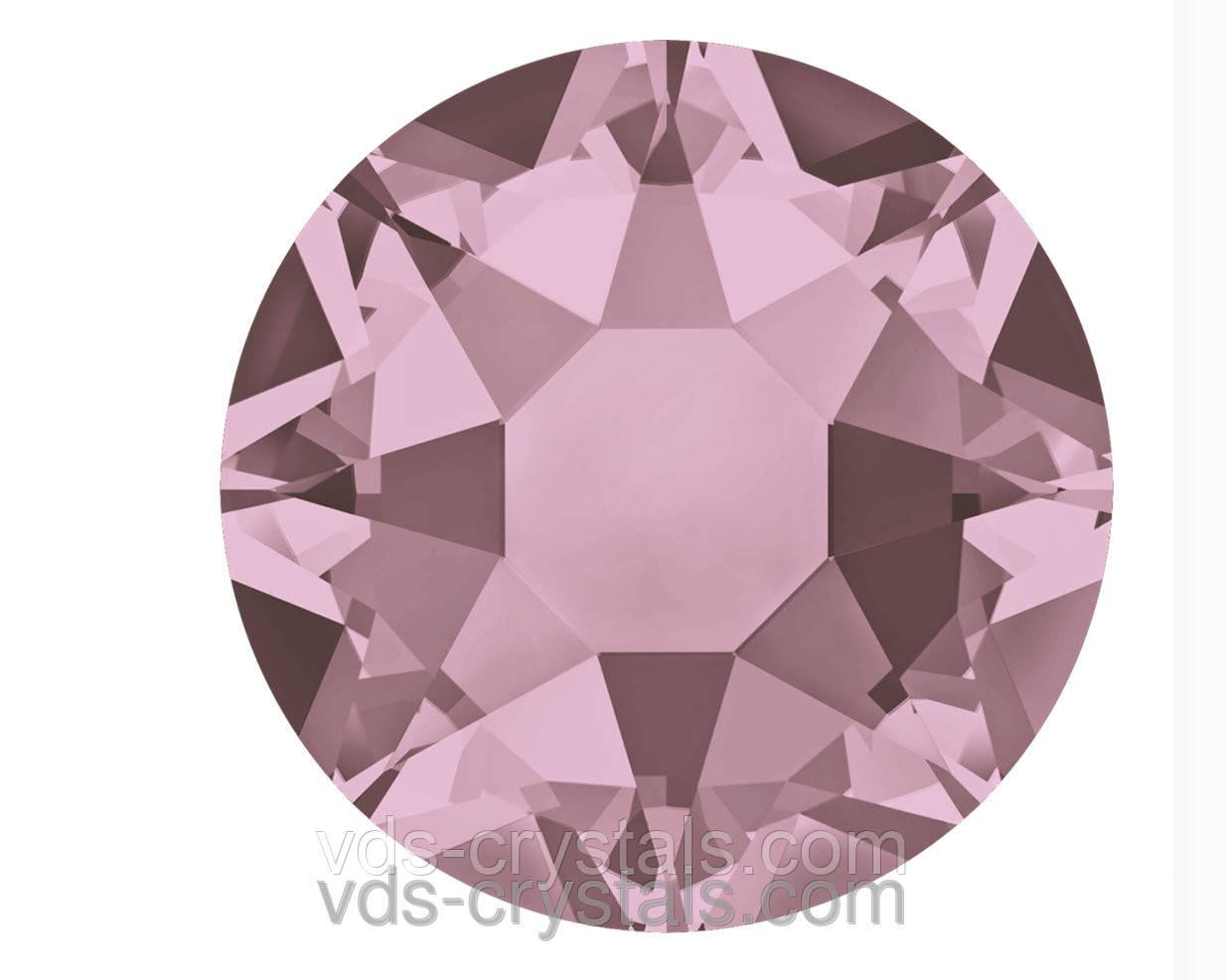 Стрази Сваровскі оптом і в роздріб клейові гарячої фіксації 2078 Crystal Antique Pink F (001 ANTP)