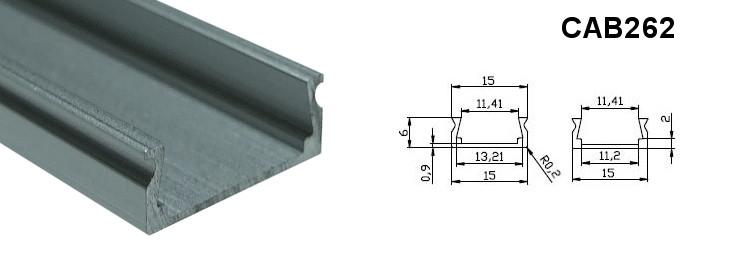 Алюмінієвий профіль CAB262 для світлодіодних стрічок 4395