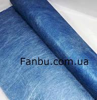 Флизелин металлизированый(1лист 60*57 см),цвет синий, фото 1