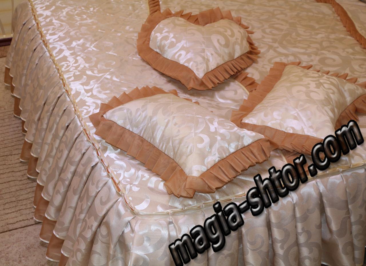 Покрывало, 3 наволочки для подушек