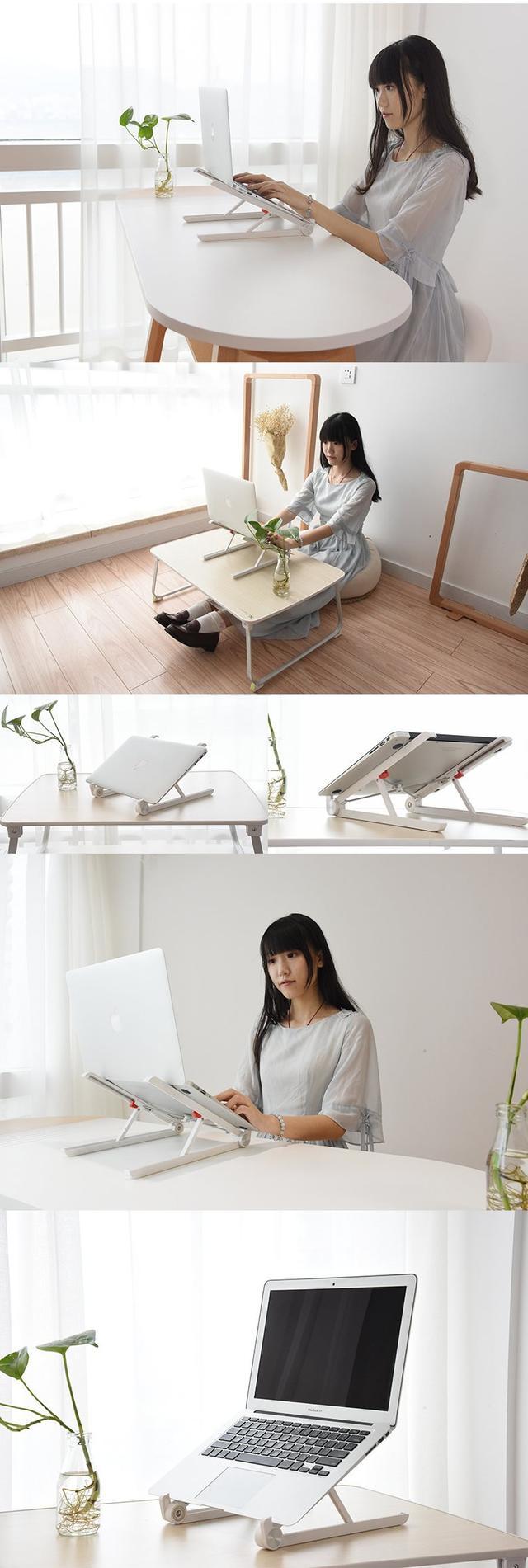 Складная пластиковая подставка под смартфон и планшет цвет белый