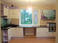 Кухня пленочная,в частный дом, прямая, угловая, белая, скинали, фото 1