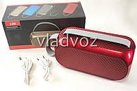 Портативная блютуз колонка акустика bluetooth для телефона мини с флешкой повербанк радио FM красная J29