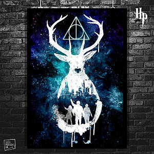 Постер Patronus, Патронус. Гарри Поттер, Harry Potter. Размер 60x43см (A2). Глянцевая бумага