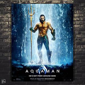 Постер Аквамен, Aquaman (2018). Размер 60x48см (A2). Глянцевая бумага