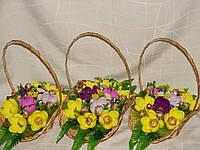 """Букет из конфет.Желто-фиолетовые крокусы""""Серпантин""""№9+8"""
