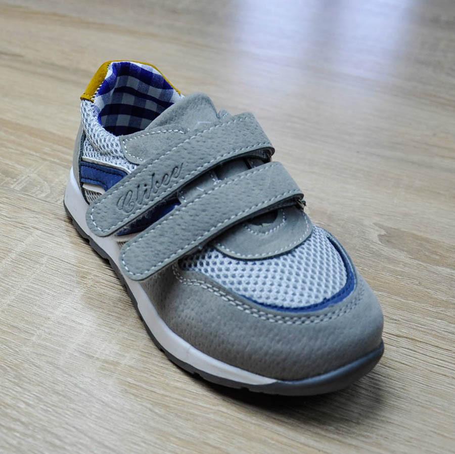 6b79fc801 Кроссовки серого цвета на липучках C Wee для мальчика, Clibee - Интернет- магазин товаров