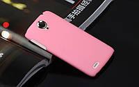 Чехол накладка бампер для Lenovo S820 розовый