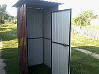Дачный туалет из профнастила