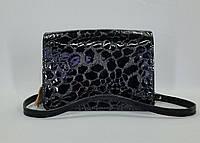 fb738589a5d5 Женская сумочка ручной работы из натуральной итальянской лаковой кожи (15.5  х 22 х 10.5 см)
